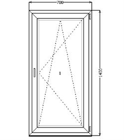 Поворотно-откидное окно 1400*700 (SCHÜCO CT 70(3)/AXOR K3/4-16-4) - фото 4573
