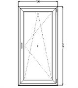Поворотно-откидное окно 1400*700 (SCHÜCO CT 70/AXOR K3/4-16-4)